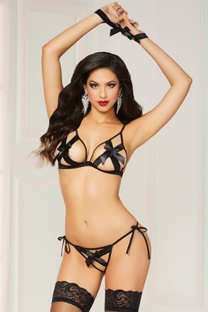 Lencería 3 Pc Bra Set Black O/S 3